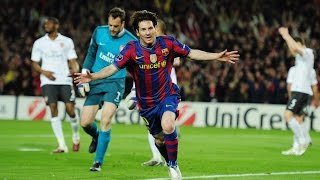 First of all Thank You so much for 1K Subcribers!A 23 year old young Messi considered possibly the greatest after a game of UCL against Arsenal. A game that finished 4-1 and Messi's name was written on all 4. Messi didn't make the UCL Final that year but went on to beat Alex Fergusons Man United the following year at Wembley.Do you think he's the greatest?Please Subscribe and Drop a Like!