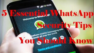 Check this Video : 5 Essential WhatsApp Security Tips You Should KnowMusic---------TeknoAXE's Royalty Free Music #41 (And End Scene)https://www.youtube.com/watch?v=Uz6OFzla-rIhttp://teknoaxe.com/Link_Code_2.php?q=663