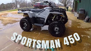 "5. THE POLARIS SPORTSMAN 450 ""Utility Edition ""🤔🤔🤔at Hollis Farms"