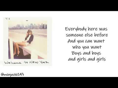 Taylor Swift - Welcome to New York (Lyrics)
