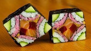 Mosaic Sushi Roll Evolution - Food Recipe - YouTube