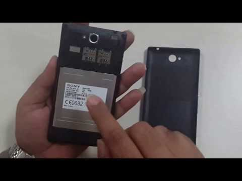 how to open xperia p battery cover