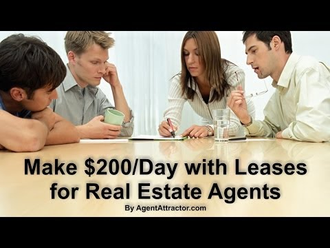 Make money with leases for real estate agents