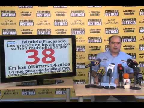 Julio Borges: La única Guerra Económica que existe, es la que Maduro está perdiendo contra la inflación