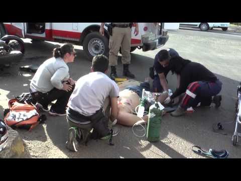 Motociclista fica ferido grave após acidente com Vectra em Lages