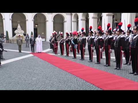 Roma - Renzi riceve il Principe Ereditario degli Emirati Arabi Uniti (14.09.16)