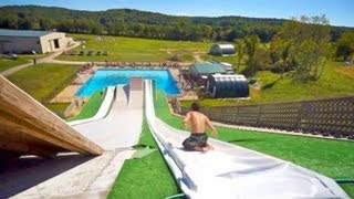Epic Slip 'N Slide Pool Party!! - YouTube