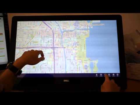 Windows 8 DELL XPS One 2710 Touch Demonstration