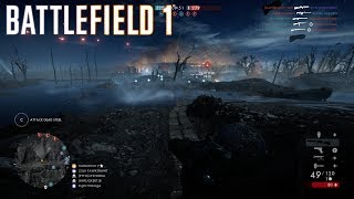 BF1 Conquest gameplay on the new night map Nivelle Nights.