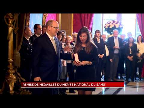 Presentation of Monaco Blood Donor Medals by H.S.H. Prince Albert II