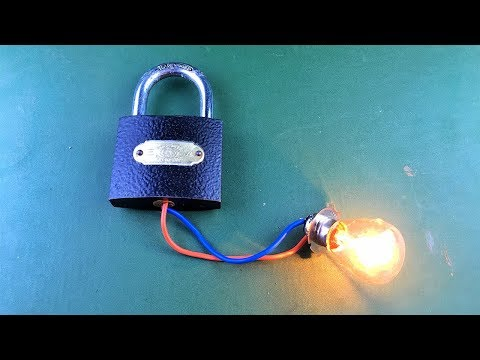 2019 Free Energy Generator 100% Self Running Using Lock With DC Motor New Technology For At Home
