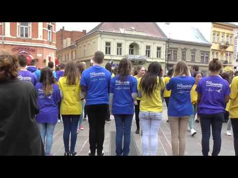 Tancovanie štvorylky na Hlavnej ulici v Košiciach 2015