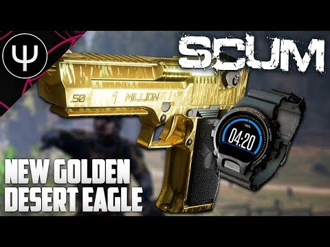 SCUM — NEW Golden Desert Eagle Gameplay (NEW WEAPONS)! (видео)