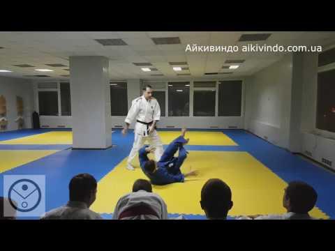 Айкивиндо. Цуки (цки) Уширо кири атоши. Aikivindo Ushiro kiri otoshi. Aikido Lessons. 25.01.17