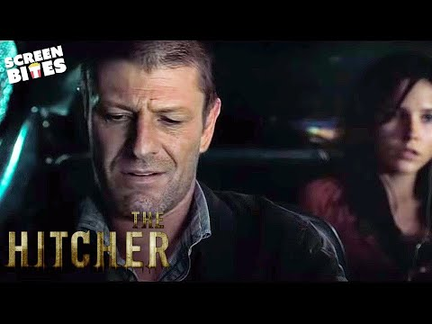 The Hitcher: John Ryder (Sean Bean) threatens Grace (Sophia Bush) and Jim (Zachary Knighton)