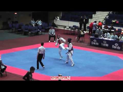 67kg Darya ISHCHENKO (RUS) vs (DEN) ANDERSEN Jasmin  (-21 European TKD Championships 2015) (видео)