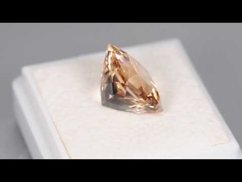 5.54CT FABULOUS CUSTOM CUSHION CUT NATURAL BRAZILIAN PEACH MORGANITE