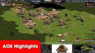 AOE HighLights - Trận đấu cầm Palmyran mẫu mực của Hoàng Mai Nhi, game đế chế, clip aoe, chim sẻ đi nắng, aoe 2015
