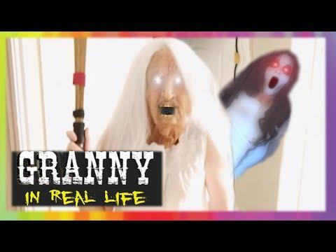 GRANNY Horror Game IN REAL LIFE! GRANNY vs Slendrina | Screen Team