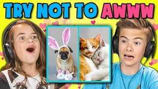 Try Not to Awww Challenge reacted to by Kids! Original videos linked below!Watch all main React episodes (Kids/Teens/Elders/Adults/YouTubers): http://goo.gl/4iDVaSUBSCRIBE THEN HIT THE 🔔! New Videos 2pm PST on FBE! http://goo.gl/aFu8CWatch latest videos from FBE: https://goo.gl/aU5PSmKids Try Not to Awww! Original Links Below!Videos featured in this episode:1 Day Old Sea Otter Trying to Sleep on Momhttps://goo.gl/1gAaenTwo Cats Kissing and Cuddlinghttps://goo.gl/GZoiQGThe little duckling that couldhttps://i.imgur.com/C3SAAd5.gifvDoge Store Clerk (Shiba)--Shiba Inu In Tokyohttps://goo.gl/dU8S1oAggressive Spooninghttp://i.imgur.com/UDgAEsK.gifvDog Sucks At Hide And Seekhttps://goo.gl/4144SGhttps://www.instagram.com/p/BS_W6sFFv7L/https://twitter.com/bbcmtd/status/859733610982776832FBE's goal is to credit the amazing content that gets featured in its shows. If you see incorrect or missing attribution please reach out to credits at finebrosent.comReactors featured in this episode:Jordyn, age 6https://www.instagram.com/jordyn.r.james/Carlin, age 8Jaxon, age 13https://www.instagram.com/jaxonhh/Jenna, age 9Musical.ly - jjvaughn4Lucas, age 9https://www.instagram.com/lucasvazquez2008/Sydney, age 9https://www.instagram.com/sydneybergerson/Gabe, age 10https://www.instagram.com/gabeglc/Royel, age 10https://www.youtube.com/user/royelaugustineSamirah, age 11Morgan A., age 14Follow Fine Brothers Entertainment:FBE WEBSITE: http://www.finebrosent.comFBE CHANNEL: http://www.youtube.com/FBEREACT CHANNEL: http://www.youtube.com/REACTBONUS CHANNEL: https://www.youtube.com/FBE2FACEBOOK: http://www.facebook.com/FineBrosTWITTER: http://www.twitter.com/thefinebrosINSTAGRAM: http://www.instagram.com/fbeSNAPCHAT: https://www.snapchat.com/add/finebrosTUMBLR: http://fbeofficial.tumblr.com/SOUNDCLOUD: https://soundcloud.com/fbepodcastiTUNES (Podcast): https://goo.gl/DSdGFTMUSICAL.LY: @fbeLIVE.LY: @fbeSEND US STUFF:FBEP.O. BOX 4324Valley Village, CA 91617-4324Creators & Executive Producers - Benny Fine & Rafi FineHead of Post Production - Nick BergtholdSr. Associate Producer - Kyle SegalAssociate Producer - Dallen DetamoreJr. Associate Producer - Ethan WeiserProduction Coordinator - Cynthia GarciaProduction Assistant - Kenira Moore, Kristy Kiefer, Locke Alexander, JC ChavezEditor - Alyssa SalterAssistant Editor - Kelsey Houser, Austin MillerDirector of Production - Drew RoderAssistant Production Coordinator - James RoderiquePost Supervisor - Adam SpeasPost Coordinator - David ValbuenaSet design - Melissa JudsonMusic - Joseph Carrillo http://www.youtube.com/houseofblackbirds© Fine Brothers Entertainment.Kids React #182 - KIDS REACT TO TRY NOT TO AWWW CHALLENGE #2