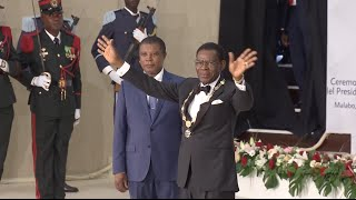 Teodoro Obiang Nguema was sworn in for his sixth term as Equatorial Guinea's president on Friday. In a grand inauguration ceremony in the capital, Malabo, 73...