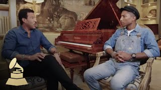 Lionel Richie and Pharrell Williams Interview   58th GRAMMYs