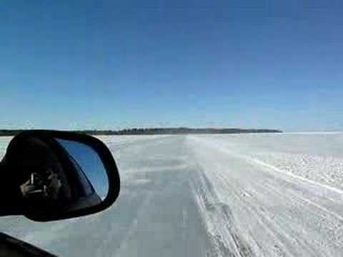 Spinning on the ice road