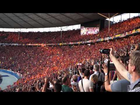UEFA Champions League 2014/2015 Final - Olympiastadion - Berlin. FC Barcelona Anthem.
