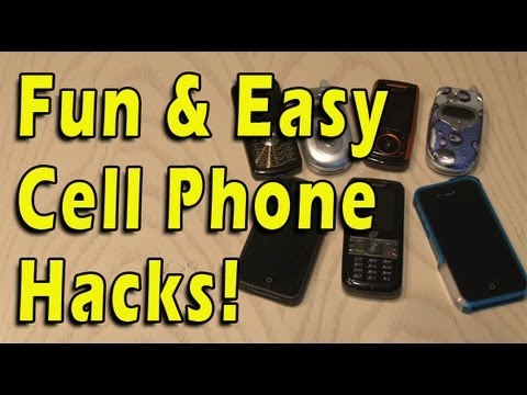 hacks - Here are a few hacks you can do to your cell phone. Save money and have fun! Join the Kipkay Fan Club! http://www.kipkay.com/fanclub Subscribe to Kipkay: htt...