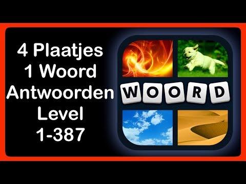 4 Plaatjes 1 Woord  - Level 1-387 - Antwoorden - Oplossingen