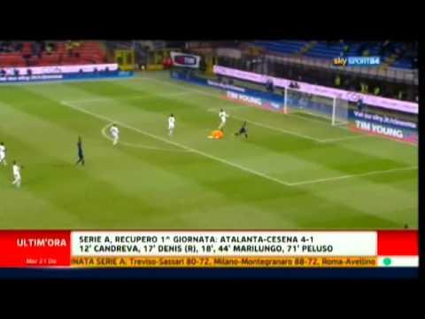 Inter - Lecce 4 - 1 Highlights Sky Sport 24 HD All Goals 21/12/2011 видео