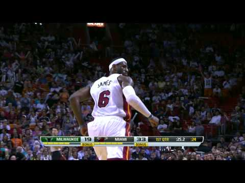 KING LEBRON JAMES: Two MONSTER DUNK reasons why it's good to be king!