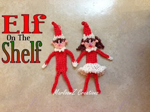 Rainbow Loom ELF on The Shelf Tutorial / How to with Bands