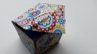 How to Make Origami Box With Lid/ Paper Gift Box With Lid/ Paper Craft..