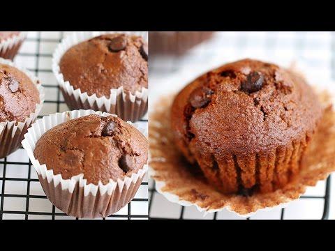 Moist Double Chocolate Muffins Recipe 초컬릿 머핀 만들기