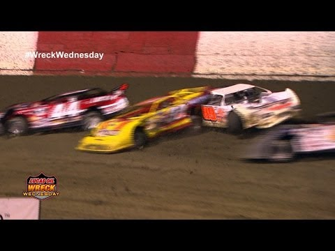 Lucas Oil Late Model Dirt Eastbay Pile Up - WW #54