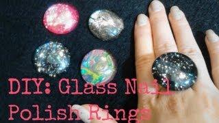 FASHION DIY: Glass Rings using Nail Polish! - YouTube