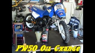 3. PW50 oil change