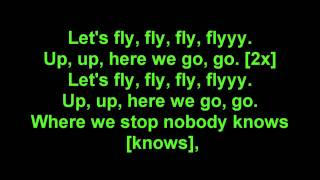 Far East Movement - Rocketeer Lyrics on screen