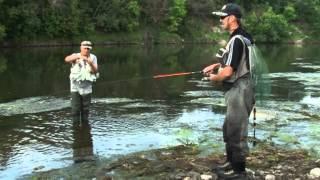 Рыбалка по-лугански Голавль на большой реке