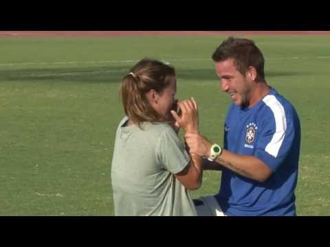 proposal - Soccer Proposal FPU Soccer Field Sara and I met through soccer playing for Fresno Pacific University. I graduated 4 months ago and I'm now the assistant coac...