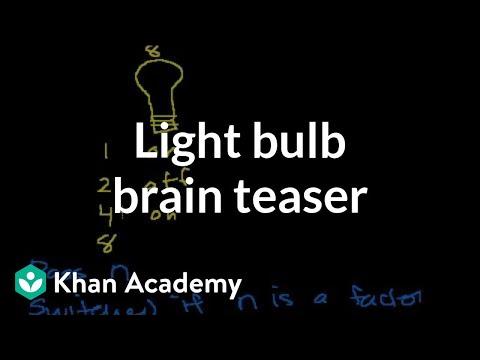 Light Bulb Switching Brain Teaser Video Khan Academy