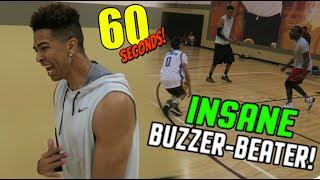 HALF-COURT BUZZER BEATERS! 60 SECOND BASKETBALL CHALLENGE! vs Cash, TTG, LostNUnbound & Los!