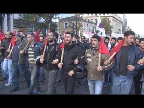 Πορεία του ΠΑΜΕ στο κέντρο της Αθήνας