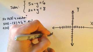 ❖ Solving a Linear System of Equations by Graphing ❖