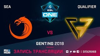 TNC vs Clutch Gamers, ESL One Genting SEA Qualifier, game 1 [Lex, 4ce]