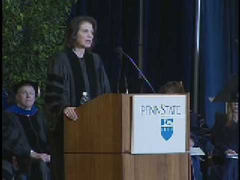 Sherry Lansing addresses Penn State Class of 2008
