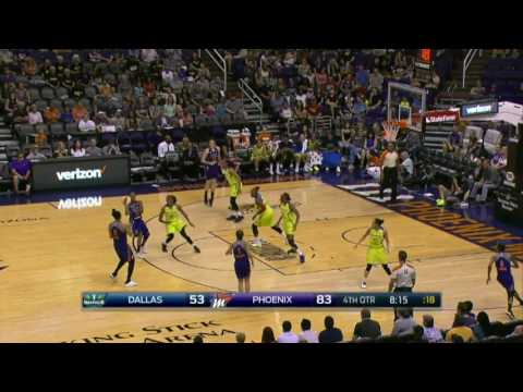 Leilani Mitchell scores 19 points for Mercury in win vs Wings | 27 May 2017