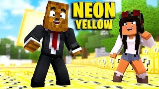 *Brand New* Neon Yellow Lucky Block Money Hunt - Minecraft Modded Minigame | JeromeASF