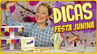 Hoje tem dicas de decoração para Festa Junina, uma festa típica no Brasil e que eu particularmente amo! São várias dicas legais e 5 DIY fáceis e baratos.